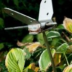 Vlinder (roestvrijstaal) 60 x 25 cm €50,-