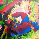 Beweging 70 x 100 cm (Verkocht)