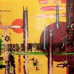 Skyline 100 x 140 cm (Verkocht)