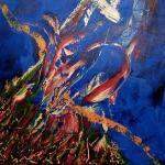 Uitbundig 100 x 100 cm (Verkocht)